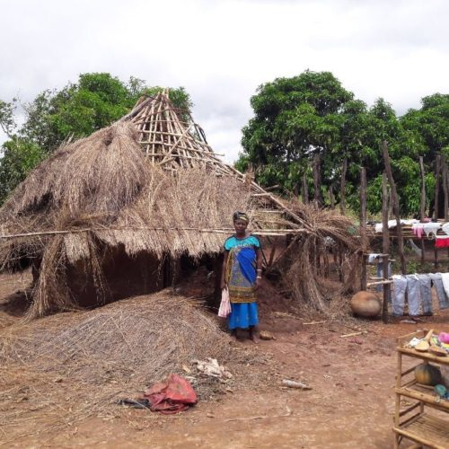 Houses in Inchope town destroyed.
