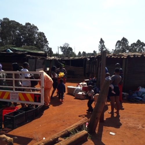 Magalela squatter camp on Hazy view road