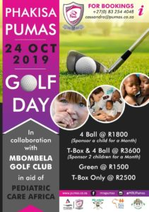 Phakisa PUMAS Golf day in collaboration with Mbombela Golf Club @ Mbombela Golf Club Nelspruit