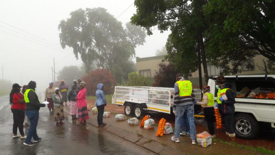 Roadside delivery in the rain