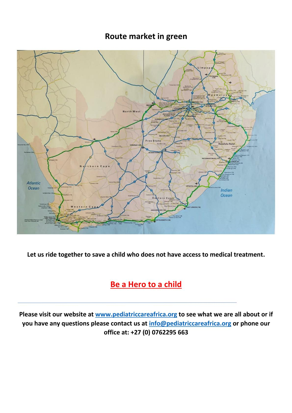 The second Ride for a Child around South Africa is coming Feb/March 2021! Not to be missed!!!