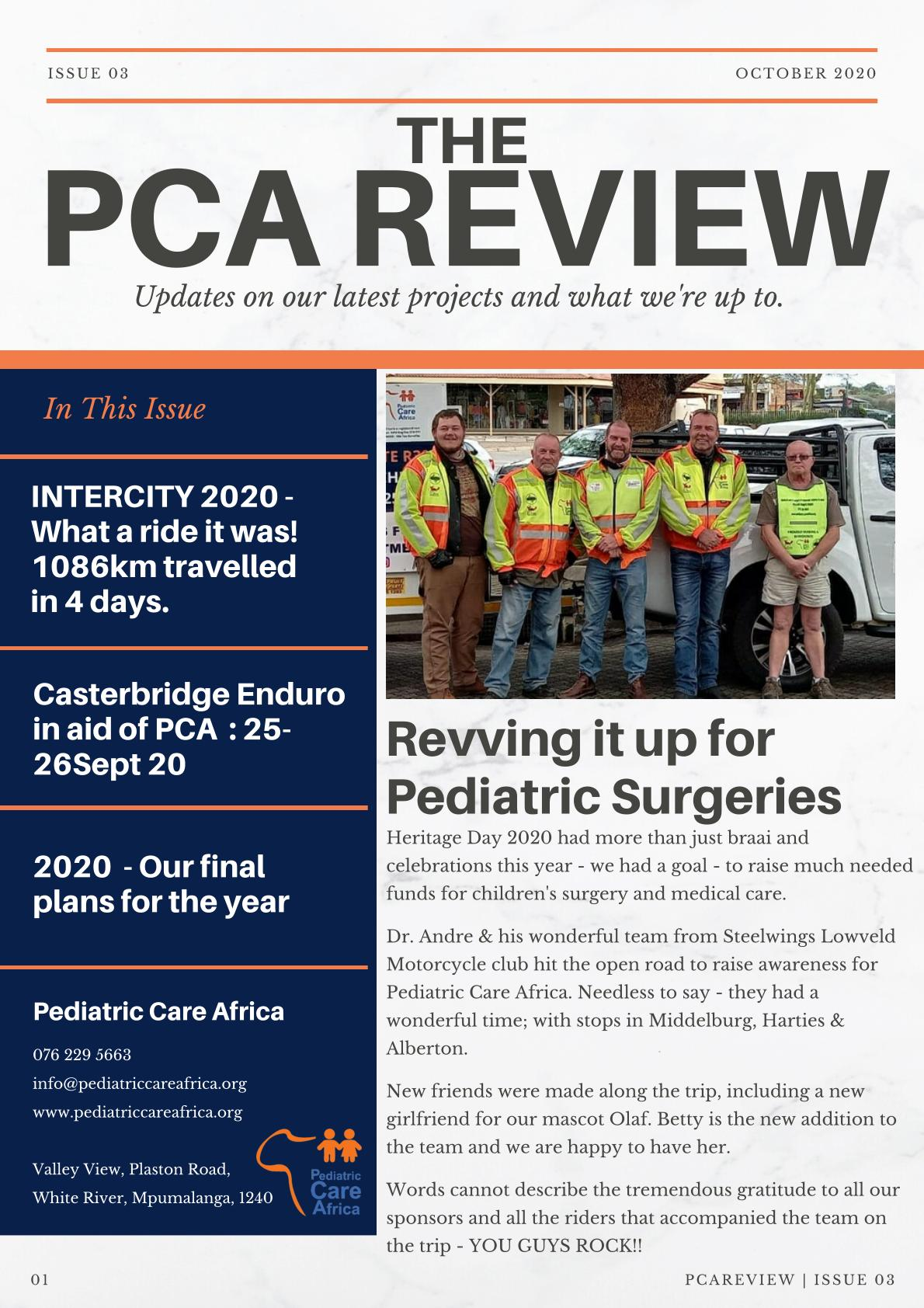 Pediatric Care Africa Newsletter Issue 03