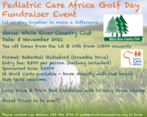 Pediatric Care Africa Golf Day @ White River Country Club
